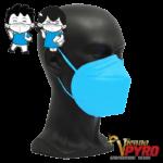 CE zertifizierte Atemschutzmaske FFP2 für Kinder Blau